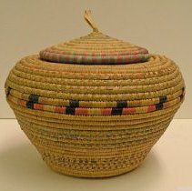 "Image of Catherine Marshall Gardiner Basketry Collection - ""Snake-charmer"" Shaped Coiled Basket"