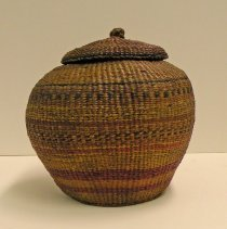 Image of Catherine Marshall Gardiner Basketry Collection - Basketry Jar with Lid