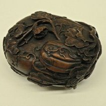 Image of Miscellaneous - Carved Wooden Box
