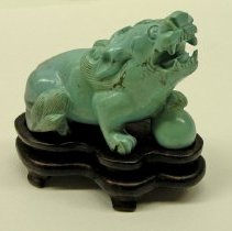 Image of Miscellaneous - Carved Turquoise Pig/Boar
