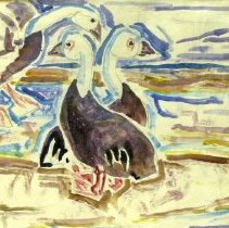 Image of American Art - Blue Geese