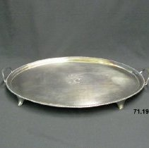 Image of Silver Miscellaneous - George III Two Handled Plate Tray