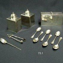 Image of British Georgian Silver - George I Tea Caddies