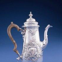 Image of British Georgian Silver - George II Coffee Pot