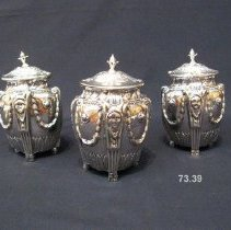 Image of British Georgian Silver - George III Tea Caddies (Set of 3)