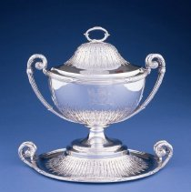 Image of British Georgian Silver - George III Soup Tureen on Stand