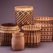 Image of Native American Baskets - Wastebasket