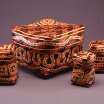 Image of Native American Baskets - Lidded Storage Basket