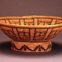 Image of Native American Baskets - Oval Basket with Pedestal