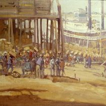 Image of American Art - Loading the Steamboat