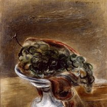 Image of American Art - Grapes in a White Bowl