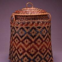 Image of Native American Baskets - Lidded Clothes Hamper