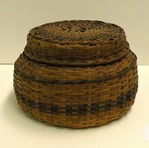 Image of Native American Baskets - Lidded Serving Basket