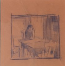 "Image of American Art - Sketch for ""Jane Hollingsworth at Kitchen Table"""