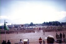 Image of TROOP MARCHING AT EXIBITION PARK (CHWK) IN BASE CLOSURE PARADE,.