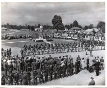 Image of Cenotaph -  Lord Alexander inspecting the troops