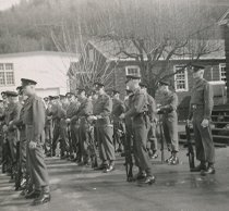 Image of Troops formed up for a Parade - 2011.016.023
