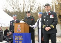 Image of 2012 Nov 11 A Army Cadet giving a speach for Remembrance Day Ceremony