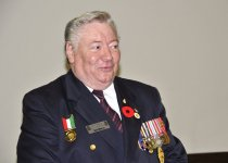 Image of 2012 Oct 26 Veterans Appreciation Day, Jim Harris for CFB Chilliwack Histor
