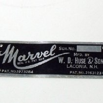Image of H2010.0250.0001 - Nameplate