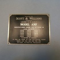 Image of H2011.0012.0002 - Nameplate