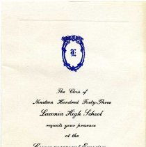 Image of H2011.0124.0014 - Invitation
