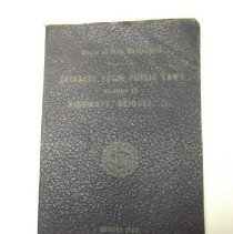 "Image of Item is a booklet entitled ""State of New Hampshire Extracts from Public Laws relating to Highways, Bridges, Etc., Revised 1960.""  It features a seal on the cover."