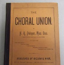 Image of Book belonged to a member of the Woodbury Melcher family.  It is a choral music book for the Junior and Senior grades. 