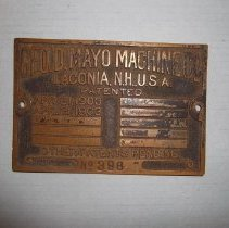 Image of H2011.0157.0001 - Plaque, Date