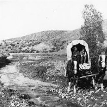 "Image of covered wagon from ""Rider of the Painted Horse"""