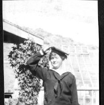 Image of Olive Fell in Navy uniform