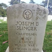 Image of Slinger, Joseph B., Master Sgt., U.s. Army, World War I Veteran K315