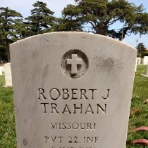 Image of Trahan, Robert J., Pvt., 22nd Infantry, 4th Infantry Division, World War Ii