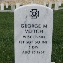 Image of Veitch, George M, 1st Sgt., 30th Infantry, 3rd Division H167