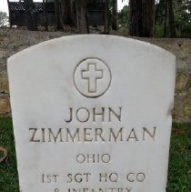 Image of Zimmerman, John, 1st Sgt., Hq Co., 8th Infantry N227