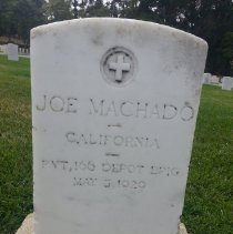Image of Machado, Joe., Pvt, Depot Brigade, World War I Veteran D118