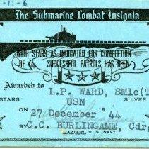 Image of Card, Commemorative - 12/27/1944