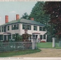 Image of Postcard - Where Ralph Waldo Emerson lived the greater part of his life and where he died, The Emerson House, Concord, Mass.