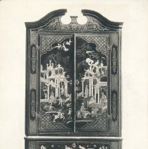 Image of Postcard - Corner Cabinet, Black Lacquer and Gilt, English 1725-1730