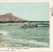 Image of Postcard - Surf Riding at Waikiki