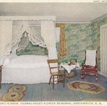 Image of Postcard - Miss Abigail's Room, Thomas Bailey Aldrich Memorial, Portsmouth, N.H.