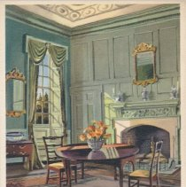 Image of Postcard - Dining Room, Kenmore Painting by Ruth Perkins Safford