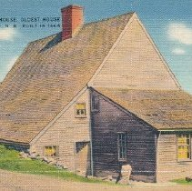 Image of Postcard - Old Jackson House. Oldest House in Portsmouth, N.H. Built in 1664.
