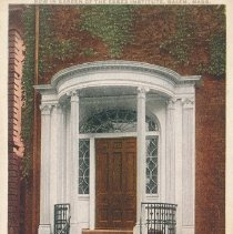 Image of Postcard - The Gideon Tucker Porch. Built in 1804