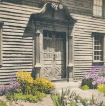 Image of Postcard - Doorway of Stockbridge Mission House Stockbridge Mass.