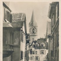 Image of Postcard - Zurich. Pfatzgasse und St. Peter