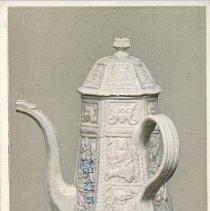 Image of Postcard - Salt-glaze Coffee Pot: About 1725