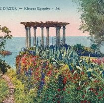 Image of Postcard - La Cote D'Azur-Kiosque Egyptien