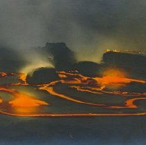 Image of Postcard - Tourist images: lava flow