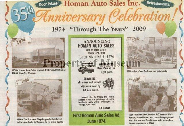 Homan Auto Waupun >> 2011 0500 0011 Newspaper